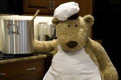 Cocinero con la cacerola Foto de archivo libre de regalías