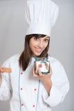 Cocinero con la especia roja Fotografía de archivo