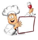 Cocinero con Menu001 Fotografía de archivo