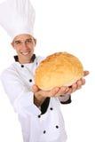 Cocinero con pan Imagen de archivo libre de regalías