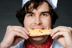 Cocinero con queso Foto de archivo