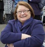 Cocinero de la celebridad TV - Rosemary Shrager Foto de archivo libre de regalías