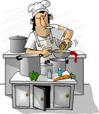 Cocinero de la cuchara grasienta Fotografía de archivo