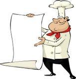 Cocinero de la historieta Imagen de archivo libre de regalías