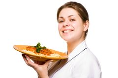 Cocinero de la mujer Fotografía de archivo