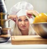 Cocinero de la mujer Fotos de archivo libres de regalías