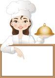 Cocinero de la mujer stock de ilustración