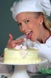 Cocinero de la panadería de Pascua Fotografía de archivo libre de regalías
