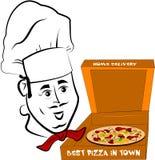 Cocinero de la pizza Fotografía de archivo libre de regalías
