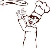 Cocinero de la pizza imagen de archivo
