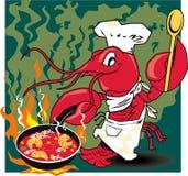 Cocinero de los cangrejos stock de ilustración