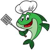 Cocinero de los pescados Foto de archivo libre de regalías