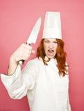 Cocinero de sexo femenino Foto de archivo libre de regalías