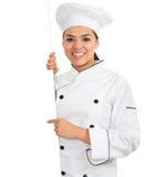 Cocinero de sexo femenino Imagenes de archivo