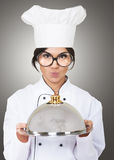 Cocinero de sexo femenino Foto de archivo