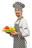 Cocinero de sexo masculino en el delantal fotografía de archivo
