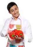 Cocinero de sexo masculino feliz   Fotos de archivo libres de regalías