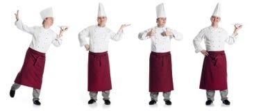 Cocinero de sexo masculino feliz cuatro Imagen de archivo