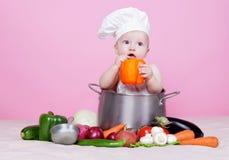 Cocinero del bebé Fotografía de archivo