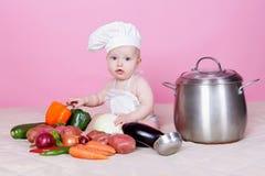 Cocinero del bebé Foto de archivo libre de regalías