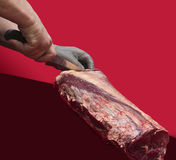 Cocinero del carnicero Fotografía de archivo libre de regalías
