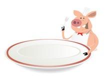 Cocinero del cerdo ilustración del vector
