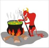 Cocinero del diablo ilustración del vector