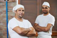 Cocinero del jefe y de la pizza Imagen de archivo