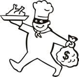 Cocinero del ladrón con el dinero imágenes de archivo libres de regalías