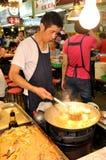 Cocinero del mercado de la noche de Taipei Fotos de archivo