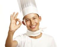 Cocinero del muchacho Fotografía de archivo