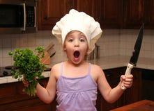 Cocinero del niño fotos de archivo