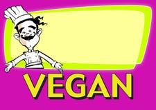 Cocinero del vegano de la SERIE del TRABAJO Fotos de archivo libres de regalías