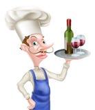 Cocinero del vino de la historieta Fotografía de archivo libre de regalías