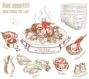 Cocinero Dishes Imágenes de archivo libres de regalías