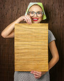 Cocinero divertido de la mujer Imagen de archivo libre de regalías