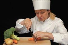 Cocinero en el trabajo Imagen de archivo