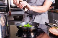cocinero en el trabajo Foto de archivo