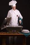 Cocinero en la comida fría Imagenes de archivo