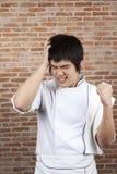 Cocinero enojado Imagen de archivo libre de regalías