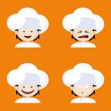 Cocinero Expressions Faces Fotografía de archivo