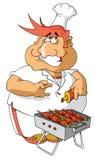 Cocinero feliz Fotografía de archivo libre de regalías