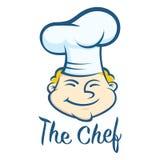 Cocinero feliz Face Symbol Fotos de archivo