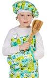Cocinero futuro adorable Fotografía de archivo