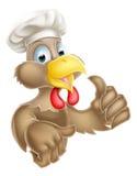 Cocinero Hat Chicken de la historieta Imagen de archivo