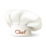 Cocinero Hat Realistic Imagenes de archivo