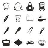 Cocinero Icons Freehand Fill Imagen de archivo libre de regalías