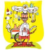 Cocinero indio stock de ilustración