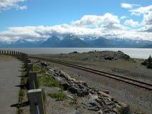 Cocinero Inlet cerca de Anchorage, Alaska Fotografía de archivo