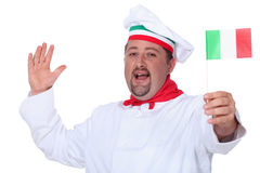 Cocinero italiano Imagen de archivo libre de regalías